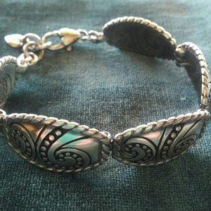 Brighton Bianca Swirl southwest concho bracelet